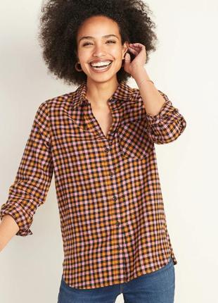 Женская фланелевая рубашка в клетку old navy олд неви сша