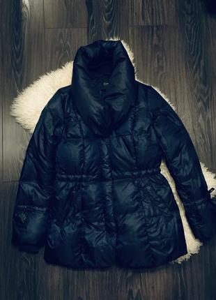 Синяя куртка пуховик esprit