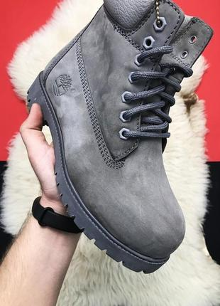 ✳️зимние✳️timberland grey, ботинки женские тимберленд, серые с...