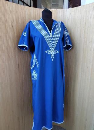 Платье туника хлопок с вышивкой Тунис