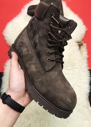 ⭕timberland brown⭕женские коричневые зимние ботинки тимберленд...