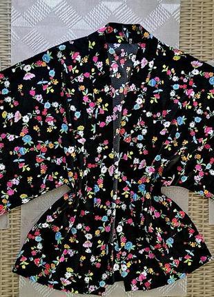 Накидка кимоно цветочный принт influence