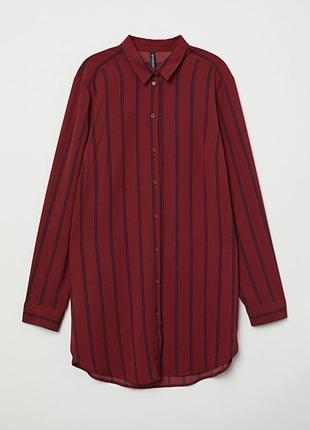 Креповая рубашка h&m