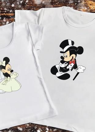 Парная футболка - микки и минни маус