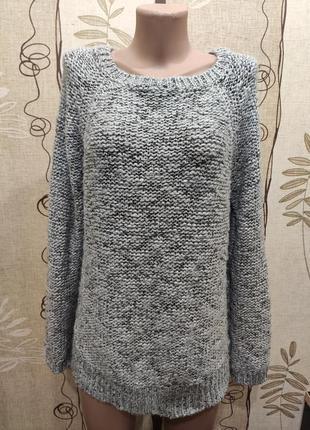 New look тёплый серый джемпер с удлиненной спинкой