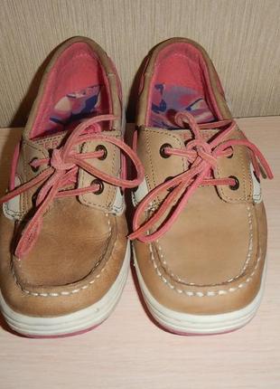 Мокасины топ-сайдеры sperry р.33(21см) туфли
