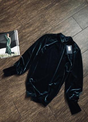 Шикарная бархатная блуза  большего размера