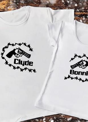 Парная футболка - бонни и клайд