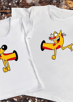 Парная футболка - котопёс