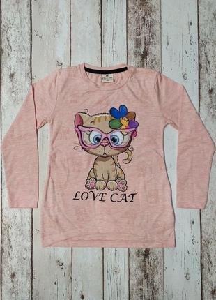 Туника для девочки кот 3 d очки