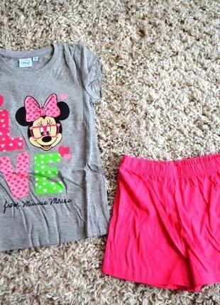 Пижама с шортами disney 116см