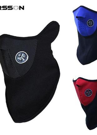 Защитная маска баф балаклава , вело мото лыжная маска теплая флис
