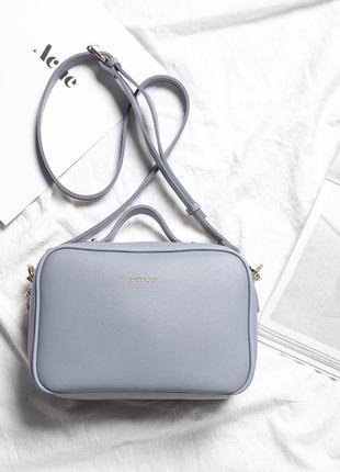 Нежно-голубая, удобная, маленькая сумка на плечо