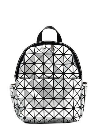 Стильный серебристый удобный рюкзак