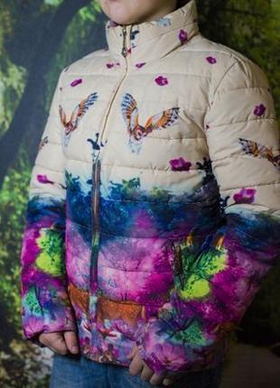 Куртка на холодную осень на девочку
