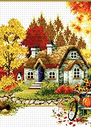 Набор для вышивки крестом   Осень 62*40 см