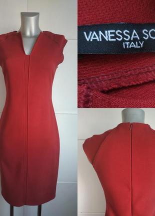 Стильное платье-футляр vanessa scott бордового цвета