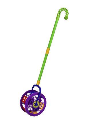 Детская каталка-колесо 777-8 длина ручки-43см(Violet)
