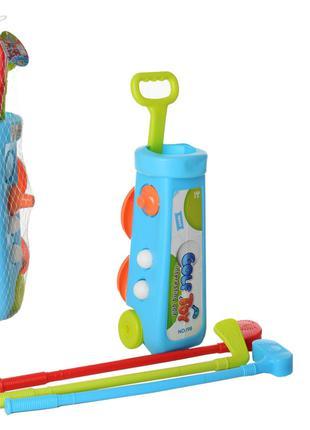 """Игровой набор """"Гольф"""" MR 0049(Blue) клиюшки, 2 лунки, мячики"""