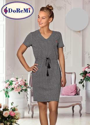 Хлопковая ночная сорочка/домашнее платье
