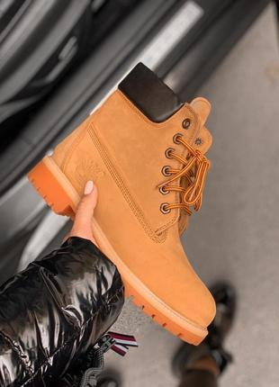 🔶timberland yellow fur🔶женские ботинки тимберленд с нат мехом,...