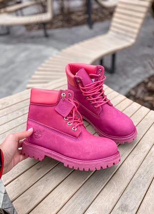 Ботинки женские зимние💎timberland purple fur💎тимберленд с мехо...