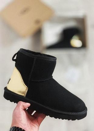 Ugg mini black gold