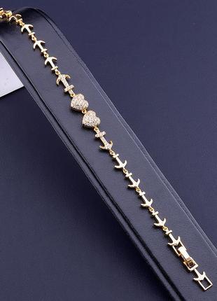 Браслет 'xuping' фианит 17 см. (позолота 18к) 0866670
