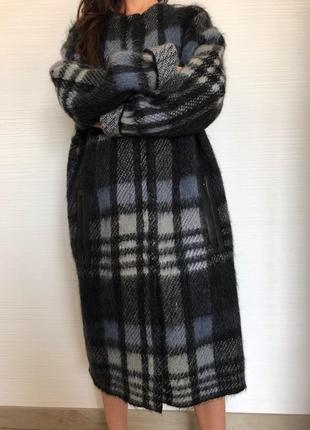 Вязаное пальто tory burch