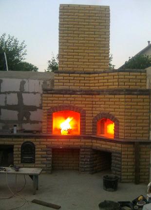 Уличный камин-помпейская печь-барбекю