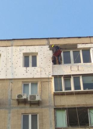 Утепление фасадов, утепление стен, наружное утепление фасада