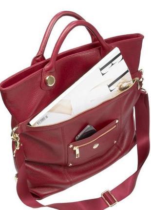 Knomo oria .кожаная сумка .формат а 4