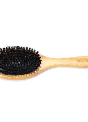 Расческа для волос бамбуковая с щетиной кабана