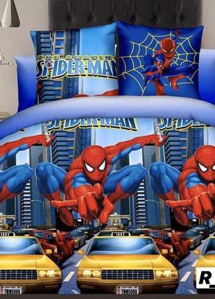 """Детский полуторный комплект постельного белья """"человек паук"""""""