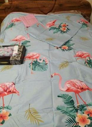 """Двухспальный комплект постельного белья из сатина💯 хлопок""""флам..."""