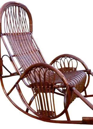 """Плетеное из лозы кресло качалка """"Закат-5 """" для Великана."""