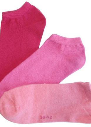 Набор носков 3 пары низкие носки женские хлопок c&a германия р...