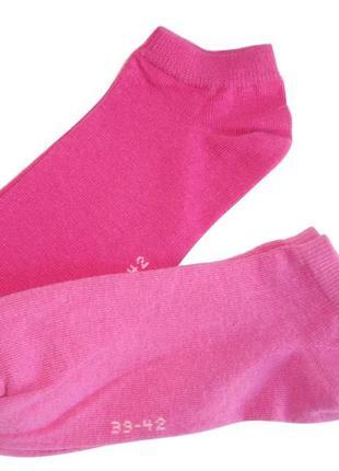Набор 2 пары низкие носки женские хлопок c&a германия р. 39-42
