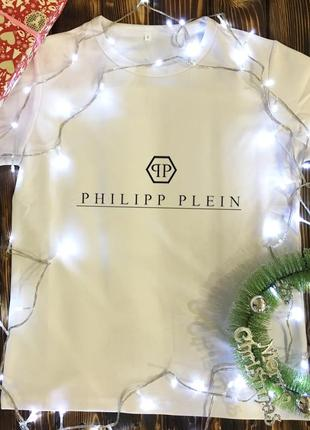 Мужская футболка с принтом - philipp plein