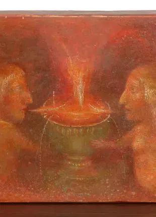 Прокофьев Фонтан кохання киевский художник картина дерево темпера