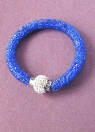🏵красивый синий браслет в кристаллах звёздная пыль, новый! арт...