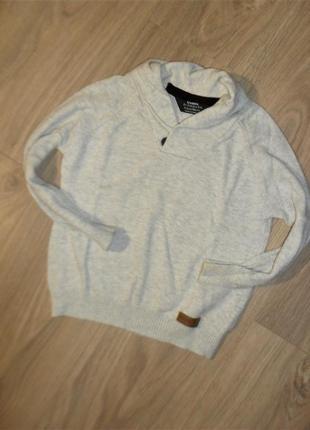 Стильный кардиган, пуловер на 3-4годика