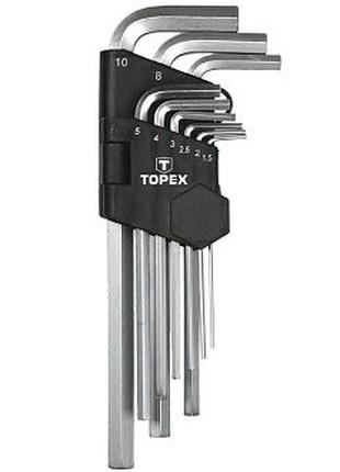 Набор ключей шестигранных Topex 35D956 9 шт