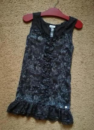 Блуза туника с рюшей street one кружевной топ