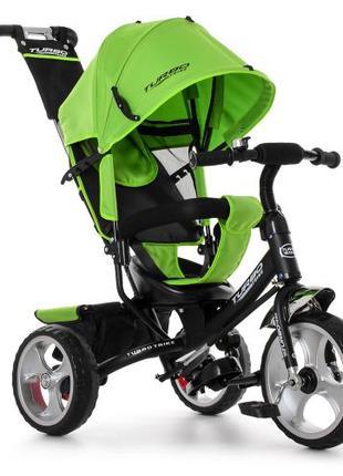 Трехколесный велосипед Turbo Trike M 3113-4 зелёный, колеса EVA