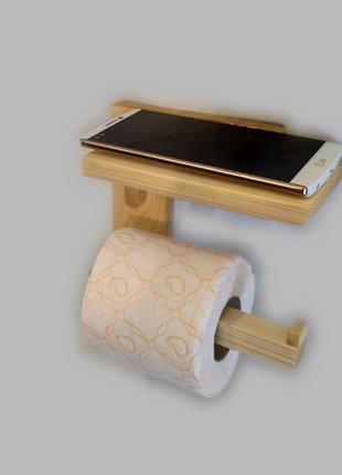 Держатель для туалетной бумаги с полкой и вешалкой для полотенца