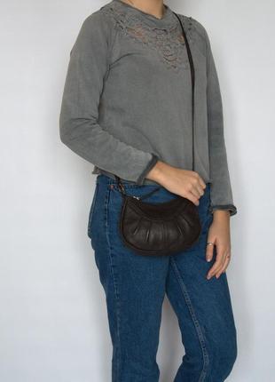 Компактная сумка, натуральная кожа