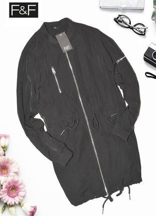 Черная демисезонная куртка f&f
