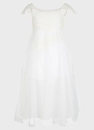 Нарядное белое платье monsoon