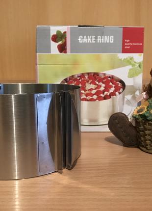 Форма круг для тортов, кексов, пасок раздвижная новая Киев